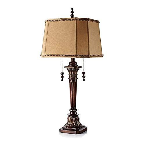 Wotbxchbbtde Al estilo europeo de la sala de estar lámpara de mesa, de lujo retro dormitorio lámpara de cabecera, arte clásico Sala decoración de la lámpara, conveniente for el uso en el hogar de la s