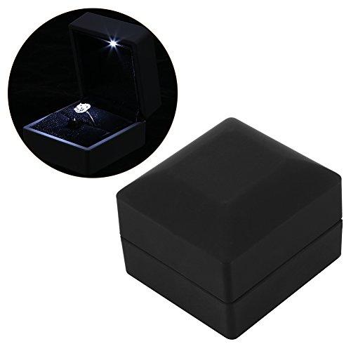 4 Arten LED Beleuchtete Ring / Anhänger / Armband / Halskette Schmuck Vitrine Geschenk Aufbewahrungsbox(#1)