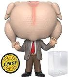 Funko Pop! Películas: Mr. Bean - Mr. Bean con Turkey Head Edición Limitada Chase Variant Vinyl Figure with Soft Protector