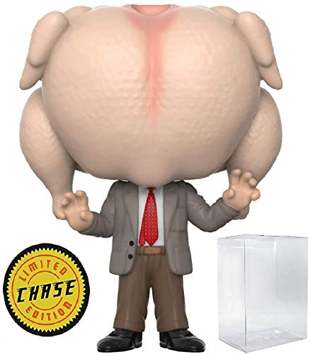 Funko Pop! Movies: Mr. Bean - Mr. Bean with Turkey Head Limited Edition Chase Variant Vinyl Figure (Includes Compatible Pop Box Protector Case)