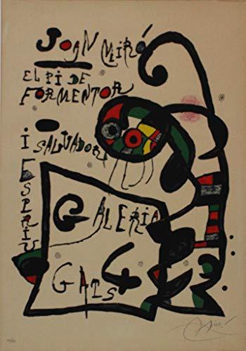 Joan Mirò, El Pi de Formentor, 1976, Litografía firmada y numerada