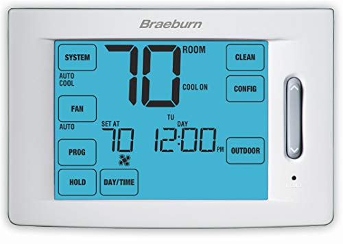 BRAEBURN 6300 Thermostat, Touchscreen Hybrid Universal 7, 5-2 Day or Non-Programmable, 4H/2C