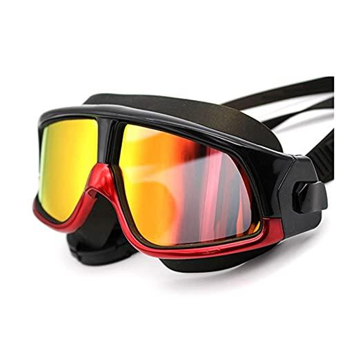 XUEXIU Luz Plana Espejo Anti-Niebla Espejo Anti-Haze Gafas De Natación Gafas De Buceo (Color : Black)