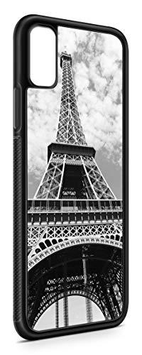 Kompatibel mit Samsung Galaxy A7 2018 Silikon Handyhülle Flexibles Slim Case Cover Frankreich Fahne Flagge Schwarz