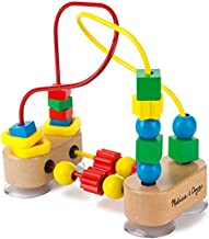 Melissa & Doug First Bead Maze - Wooden Educational Toy, 4.2 x 7 x 8.6 inches ; 1.3 pounds