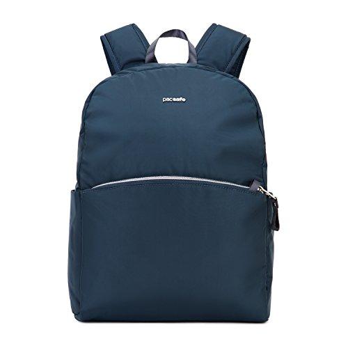 Pacsafe Stylesafe Backpack, großer Daypack für Damen, Anti-Diebstahl Tasche, Schulterrucksack mit Diebstahlschutz, Sicherheits-Features - 12 Liter, Uni, Navy / Blau
