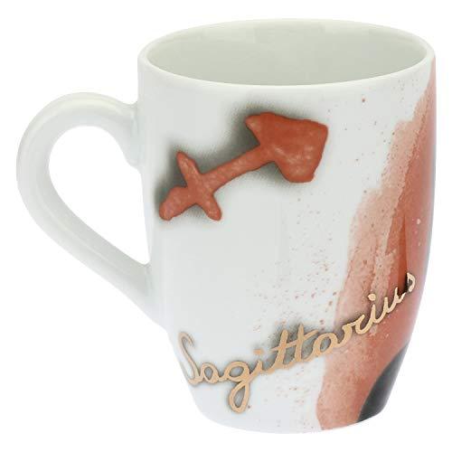 THUN ® - Mug Panda Sagittarius con Scatola in Latta per tè, caffè, tisana - Porcellana - 300 ml - Ø 8,5 cm