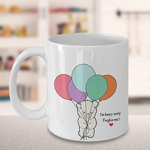 Apologetic Mug Gifts, I'm Beary Sorry Please Forgive Me Mug, Gift For Apologize Lover