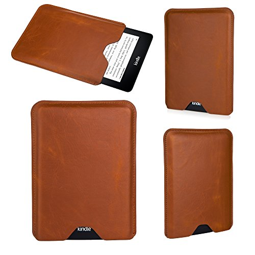 Bear Motion Premium Slim Sleeve Case Cover for Kindle Voyage - Brown