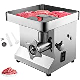 VBENLEM Commercial Meat Grinder 850W 550LB/H Stainless Steel Electric Sausage Maker Detachable Head Easy Clean with Waterproof Switch Perfect for Restaurant, 550LB, Sliver