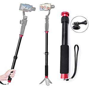 Gimbal Extension Pole Rod 17.3inch Telescopic Stick for Gimbal Stabilizer DJI OM4 Osmo Mobile 3 2/Feiyu/Zhiyun Smooth 4 Q/Hohem iSteady Mobile Pro 2/All Smartphone Stabilizer/Action Camera