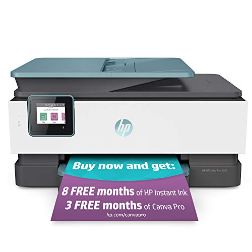 HP OfficeJet Pro 8035 All-in-One Wireless Printer - Includes 8 Months of Ink, HP Instant Ink, Works...
