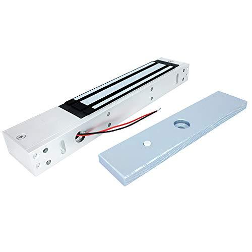 AMAO Serrure électrique magnétique 280 kg 600Lbs Electro Aimant 12V, Serrure électromagnétique pour système de contrôle d'accès, Verrouillage de Porte magnétique NC Fail-Safe Mode