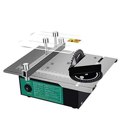 VISLONE Mini sega circolare multifunzione da tavolo, angolazione regolabile, sega elettrica da tavolo, fai da te, utensile per levigatura del legno