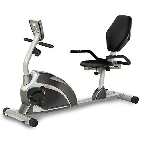 Bicicleta estática reclinada con pulso Emerpeutic 900XL | Capacidad de peso de 136 kg