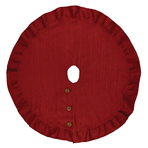 """Park Designs Holiday Collection Jute Burlap Tree Skirt 24"""" Red"""