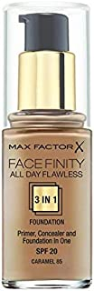 Max Factor Facefinity 3 in 1 Foundation - 30 ml, 85 Caramel
