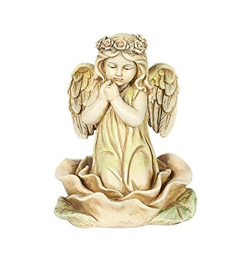 Larew Jardín Miniaturas Estatua de Jardín Esculturas de Jardín al aire libre Estatuas Estatuas de Jardín Elegante Forma de Ángulo Decoración al