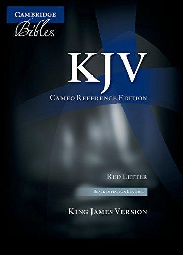 KJV Cameo Reference Bible, Black Imitation Leather, Red-letter Text, KJ452:XR Black Imitation Leather