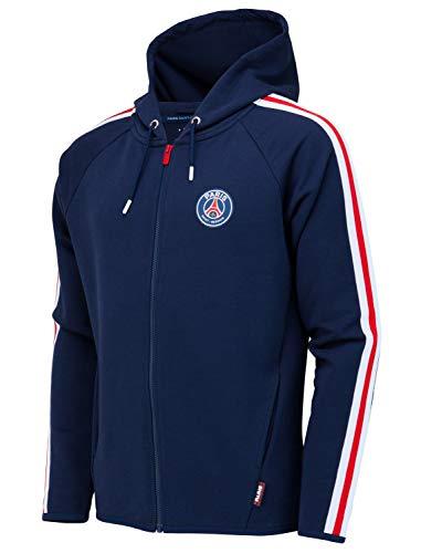 PARIS SAINT GERMAIN Jacke Sweatshirt mit Kapuze und Reißverschluss PSG Offizielle Kollektion - Kindergröße 12 Jahre