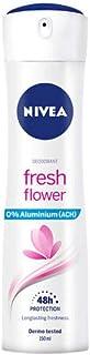 NIVEA Fresh Flower en pack de 6 (6 x 150 ml), desodorante de mujer con aroma floral, desodorante spray sin aluminio para el cuidado femenino