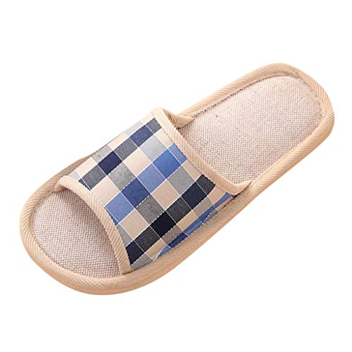 Couples Zapatillas de Casa de Cuadros Casuales de Moda para Hombres Chancletas Planos de Piso Interior,Zapatos Mujer Comodos Chanclas Sandalias de Plataforma