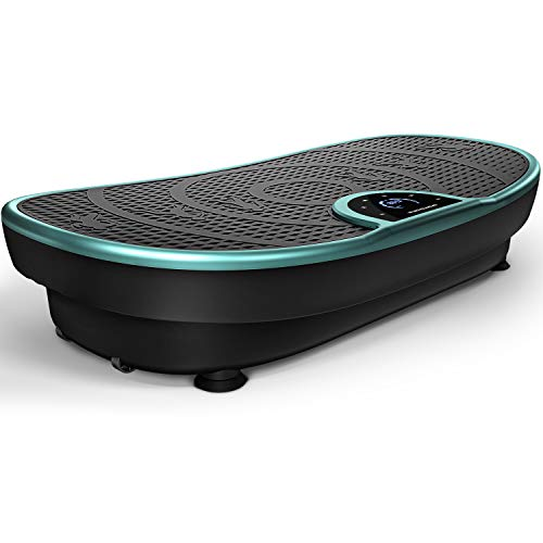 Sportstech Fair Novelty! Vibration Plate VP250 Slim Curve Design | Fat Burning & Muscle Building | Ultra Silent with 180 Levels | 7+1 Training Programs incl. Yoga option | with Bluetooth Speaker
