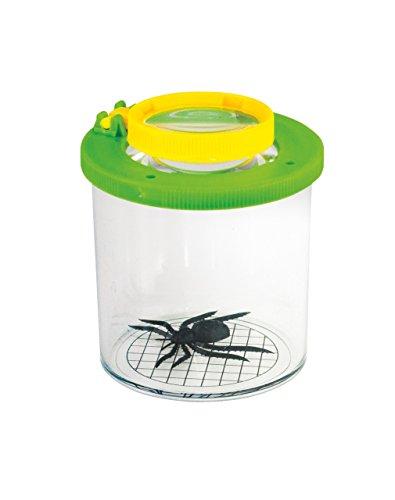 EDU QI Edu Science 61006 Visor de insectos 2X y 3.5X ampliación, verde, amarillo y crema