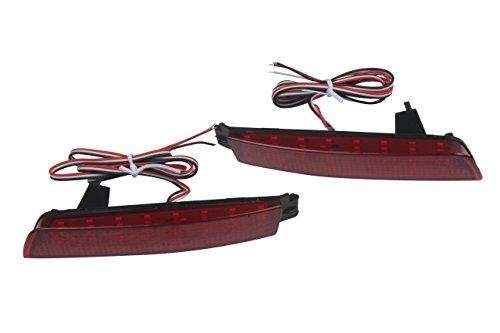HEHEMM 2 Stück Auto LED Heckstoßstange Reflektor Rücklicht Bremslicht Rot