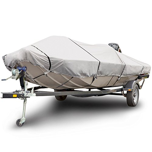 Budge B-611-X5 600 Denier Low Profile Flat Front Boat Cover Gray...