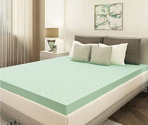 Milemont 3 Inch Queen Size Mattress Topper Green