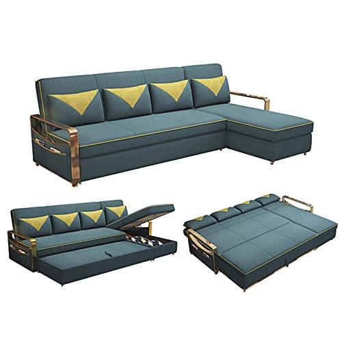 N/Z Home Equipment Sofá seccional Reversible Sofá Cama seccional Sofá Cama extraíble Sofá Cama tapizado en Forma de L con canapé para Sala de Estar Apartamento y Espacio pequeño 1.86M