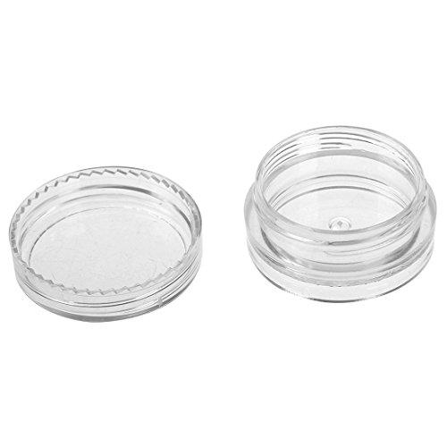 Gaoominy boite cosmetiques boite a la creme Boite du filetage en aluminium en argent Boite d'emballage cosmetique 3 ml 15 pieces par un paquet