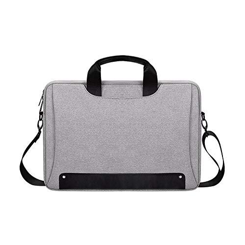 Waterproof Notebook Bag Sleeve for MacBook Air Pro Laptop Bag 13.3/15.6/14 Inch Computer Shoulder Handbag Briefcase-Grey_14-inch