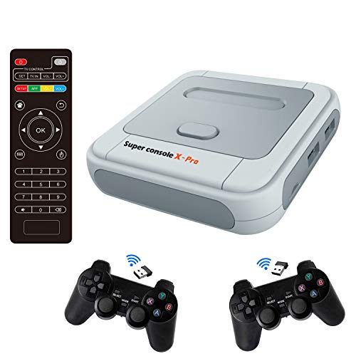 Super Console X PRO Classic Retro Game Console Built-in 50,000+ Games,Dual Systems,Gaming Consoles for 4K TV HD Output,2 Controllers,Support NES/N64/PS1/PSP,WiFi/LAN,Gifts for Best Friend (PRO-256GB)