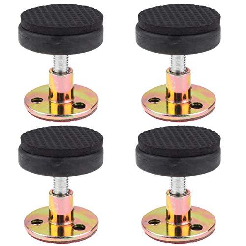 Wakauto 4 piezas marco de cama ajustable antichoque de rosca antichoque Herramientas Cabecero Tope Nocturna Anti-Shake-Fixierer para muebles de cama doméstica Soporte de pared 30-40 mm (Negro)