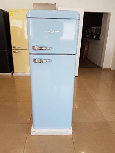 Nevera con congelador Schaub Lorenz SL 210 (G215) de Five5Cents, estilo retro, en azul claro, acanalado