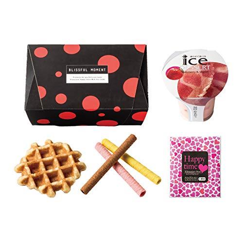<Pois>ベリーのアイスと焼き菓子・コーヒーのセットBOX(アイス・ワッフル・クレープロール・コーヒー)【結婚式 引き菓子 内祝い パーティー 焼き菓子 スイーツギフト】