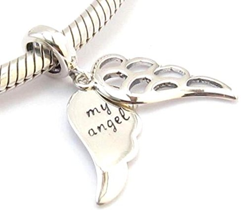 Argent sterling S925 Mon Ange Charme Perle compatible avec Pandora Chamilia Biagi et Trollbeads Bracelets