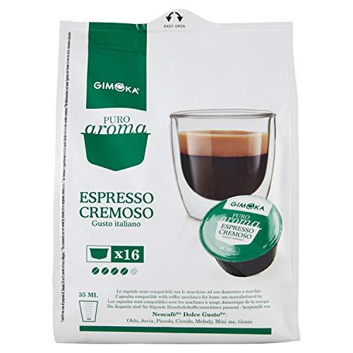 Gimoka - Capsule Compatibili Nescafè Dolce Gusto, Gusto Espresso Cremoso - 16 Capsule