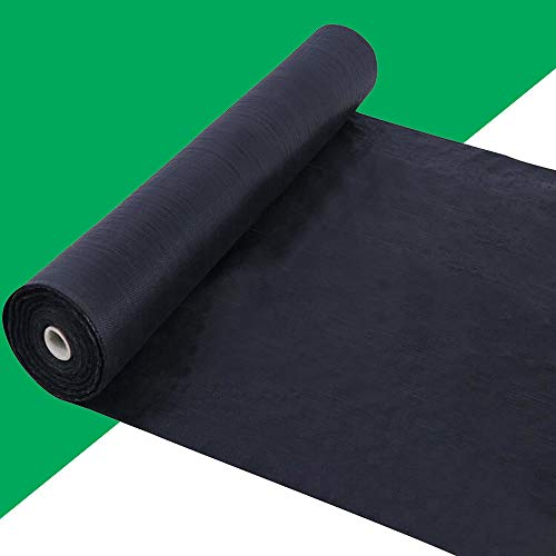 Kdgarden Premium 5oz Pro Weed Barrier Landscape Fabric Ground Cover Heavy Duty Commercial Anti-Weed Gardening Mat, 3ft x 100ft, Black