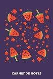 Carnet de Notes: Explosion de pastèque A5 ligné - 120 pages pour les gens à la mode (violet)