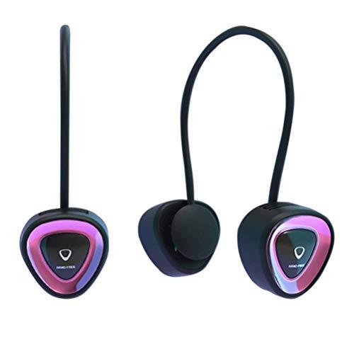 Qiekenao Ventilador para colgar en el cuello, mini tipo de almacenamiento, ventilador silencioso, manos libres, sin hojas, ventilador portátil recargable por USB