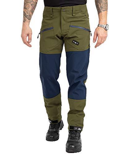 Rock Creek Pantalones de senderismo para hombre H-245 verde oscuro S