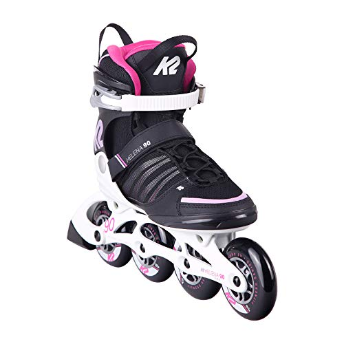 K2 Skates Damen Inline Skate Helena 90 — black - pink - purple — EU: 37 (UK: 4.5 / US: 7) — 30E0883