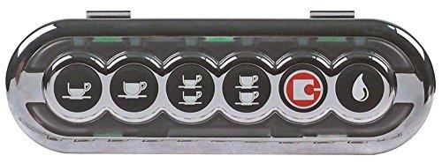 Sanremo toetsenbordeenheid voor espressomachine, 6 toetsen, lengte 146 mm, breedte 42 mm