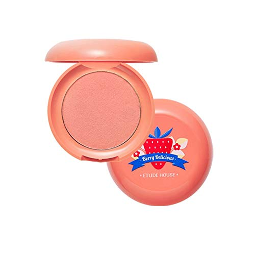 ETUDE HOUSE Berry Delicious Cream Blusher 6g (#3 Grapefruit Strawberry) - Moist Cream Cheek for a Lovely Look, Daily Natural Color