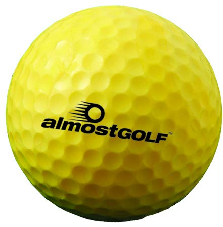 ALMOSTGOLF Point3 Limited Flight Practice Golf Balls – Realistic Spin, Trajectory, & Accuracy Foam Training Balls Bulk Pack of 240, Hi-Vis Yellow