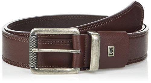 Lee Herren Relaxed Flat Edge Leather Belt Gürtel, Cognac, Small