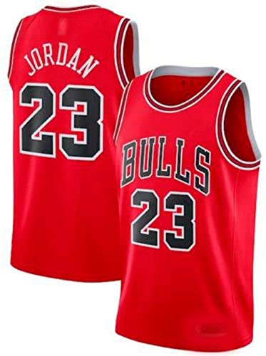 Zhao Xuan Trade Jersey Bulls Masculino Campeón de la NBA Vintage Michael Jordan Jersey Chicago Bulls # 23 Jersey de Baloncesto Swingman de Malla (Rojo, M)